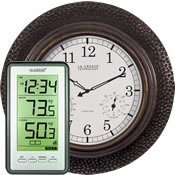 Indoor Outdoor Thermometer Clocks