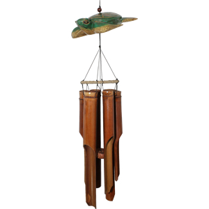 Cohasset Wooden Sea Turtle Bamboo Windchime