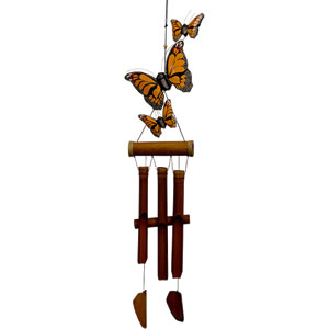 Cohasset Monarch Butterfly Harmony Bamboo Windchime