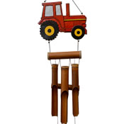 Cohasset Red Tractor Bamboo Windchime