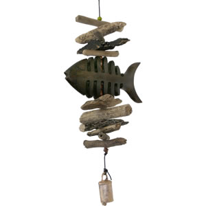 Cohasset Bone Fish Single Driftwood Mobile