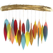 Gift Essentials Glass Leaves Wind Chime - Santa Fe Colors