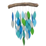 Gift Essentials Glass Waterfall Wind Chime - Ocean