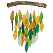 Gift Essentials Glass Waterfall Wind Chime - Rainforest