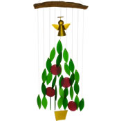 Gift Essentials Glass Angel Christmas Tree Wind Chime