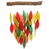 Gift Essentials Glass Waterfall Wind Chime - Fall Colors
