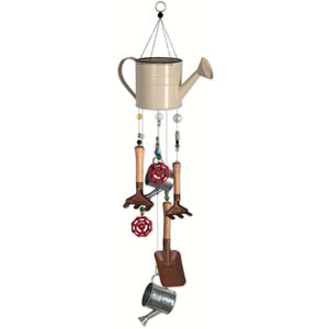 Sunset Vista Designs Gardening Tools & Watering Can Wind Chime - Gardening Time