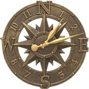 Whitehall Compass Rose Wall Clock