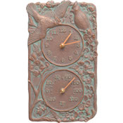 Whitehall Cardinal Wall Clock & Thermometer