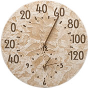 Whitehall Sumac Wall Clock & Thermometer