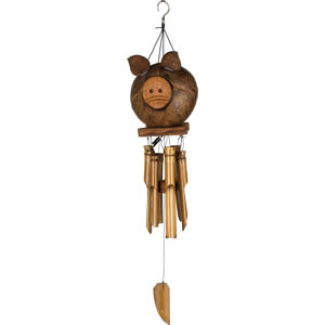 Woodstock Coco Pig Bamboo Windchime